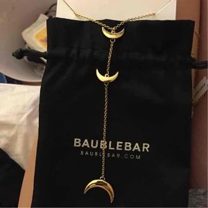 Bauble bar moon necklace